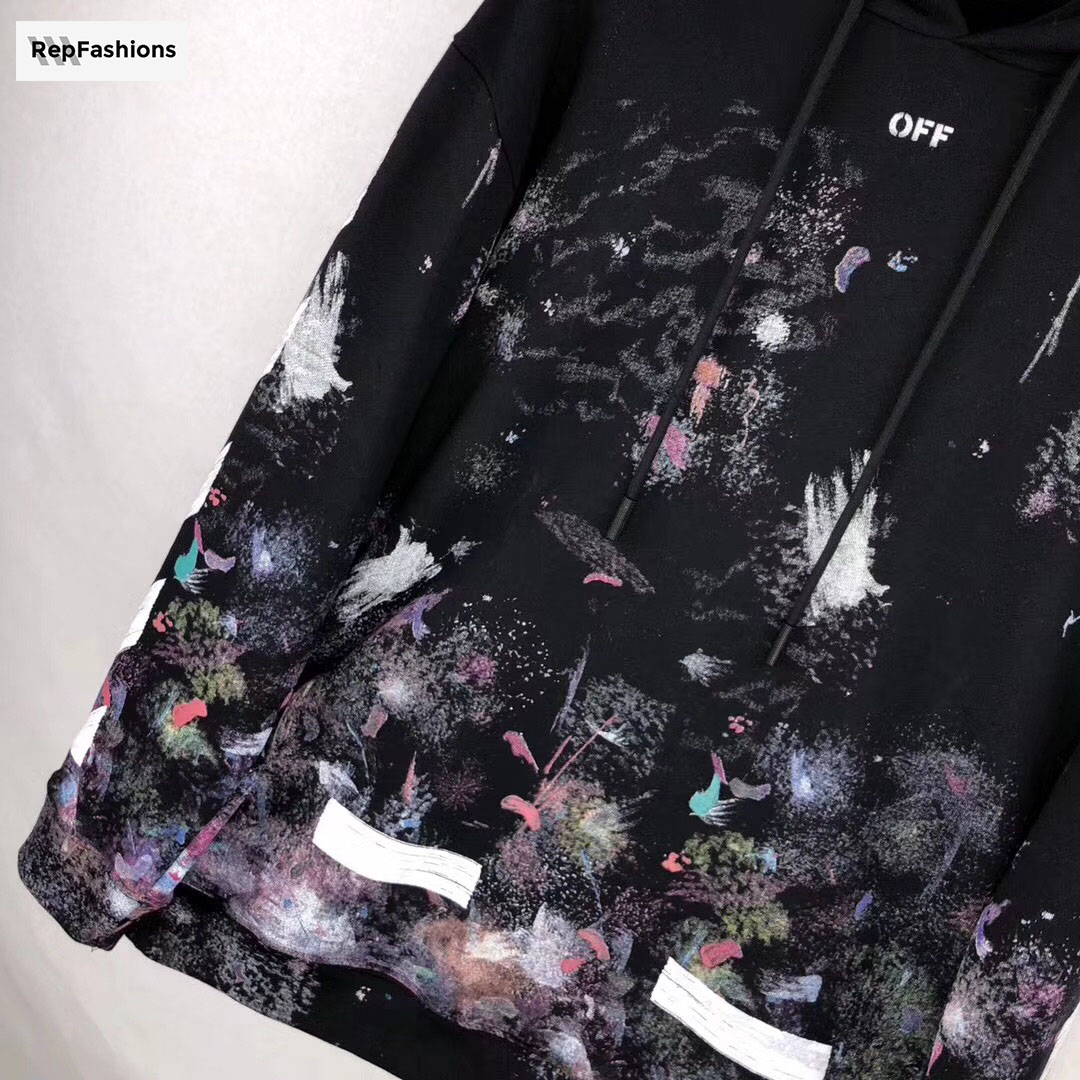 OFF WHITE Galaxy Brushed Hoodie Print
