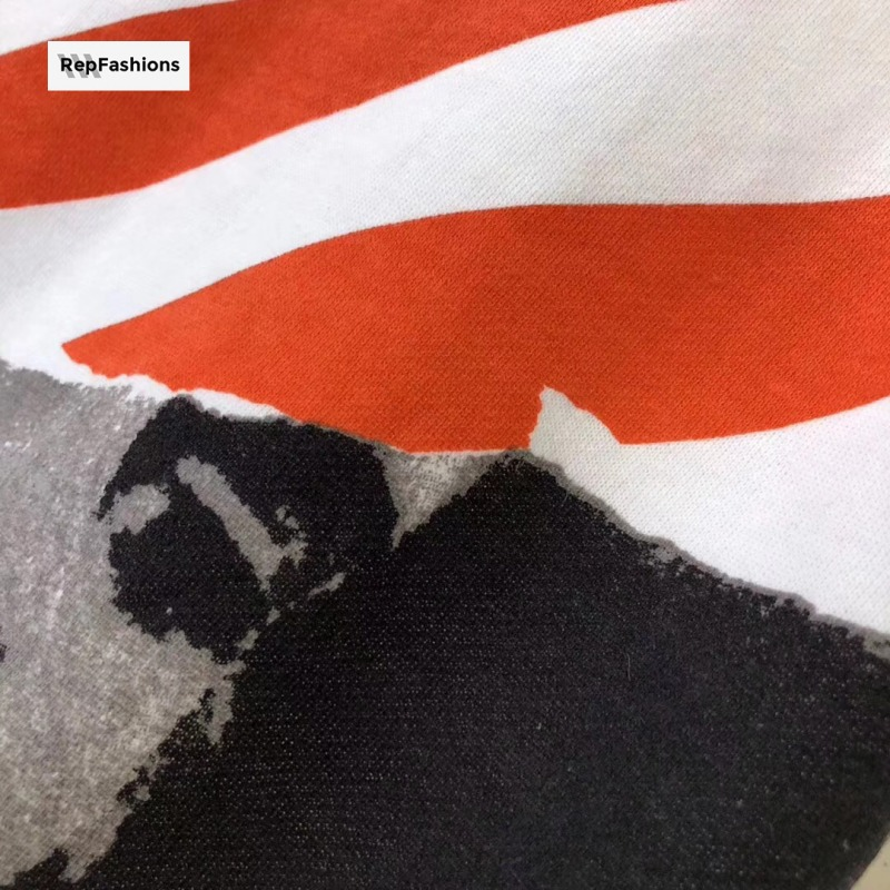 Off White Photocopy Over Sweatshirt Printing