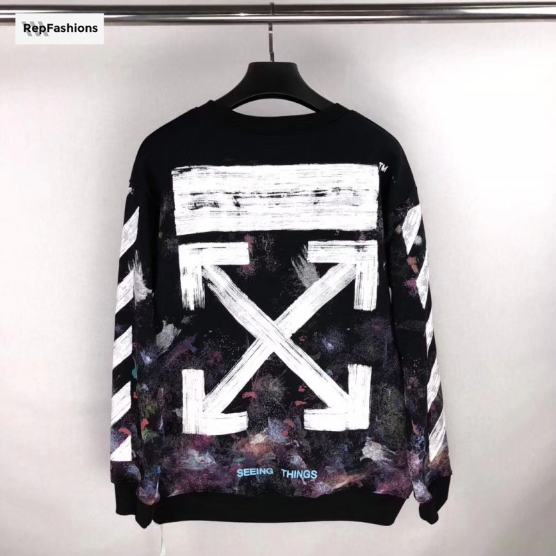 Replica OFF WHITE GALAXY CREWNECK