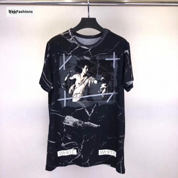 Off White Black Marble Tee - SS18
