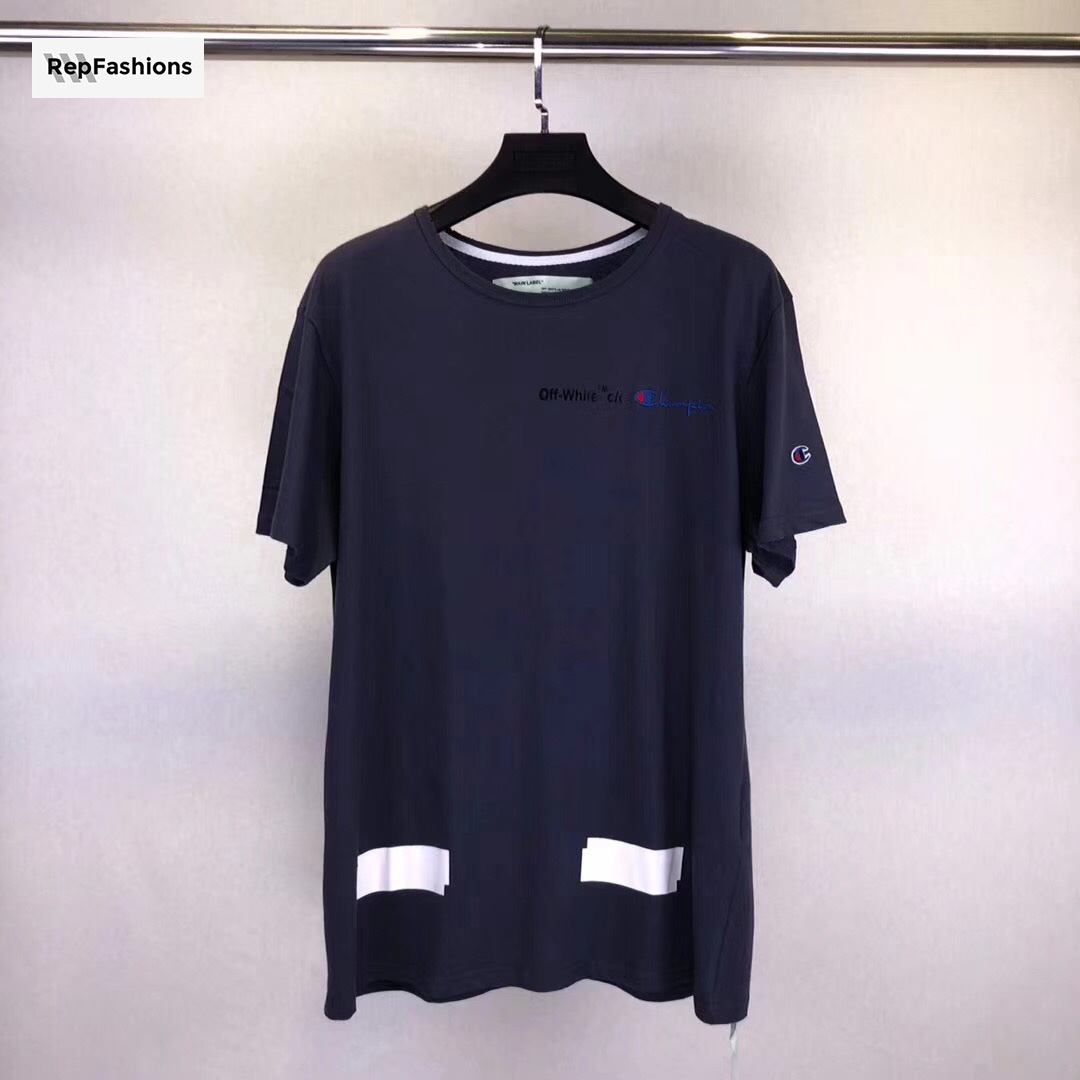 fbcd17f3 Best Cheap Rep OFF WHITE Champion T Shirt - SOLD OUT For Sale — RepFashions