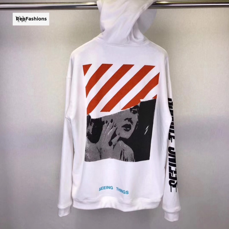 Off White Photocopy Hooded Sweatshirt