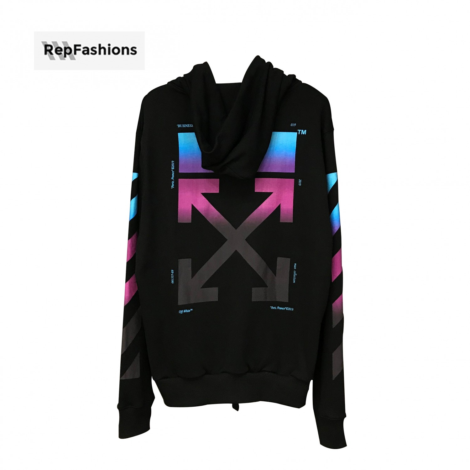 ee8f84558343 Best Cheap Rep Off White Gradient Zipped Up Hoodie 18FW For Sale ...