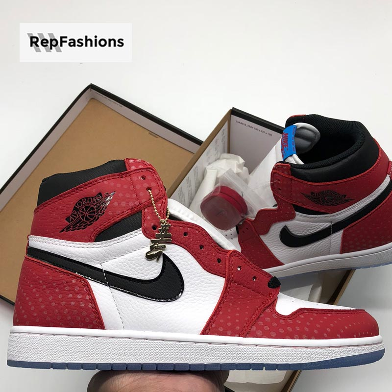 many fashionable a few days away lower price with Best Cheap Rep Air Jordan 1 Retro High Spiderman Origin Story For Sale —  RepFashions