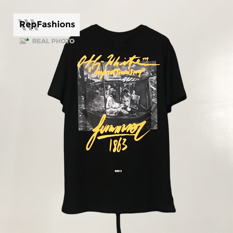 High Quality Off White 1863 Impressionism Tee back view