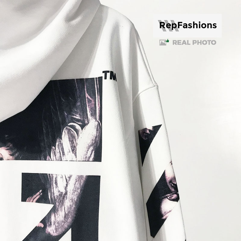 Best fake sell off white caravaggio arrows white hoodie