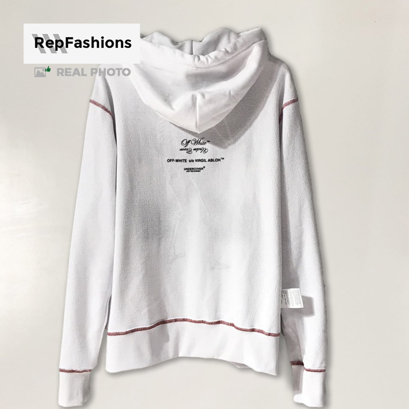 Replica Off White undercover skeleton RVRS pullover white hoodie body back part