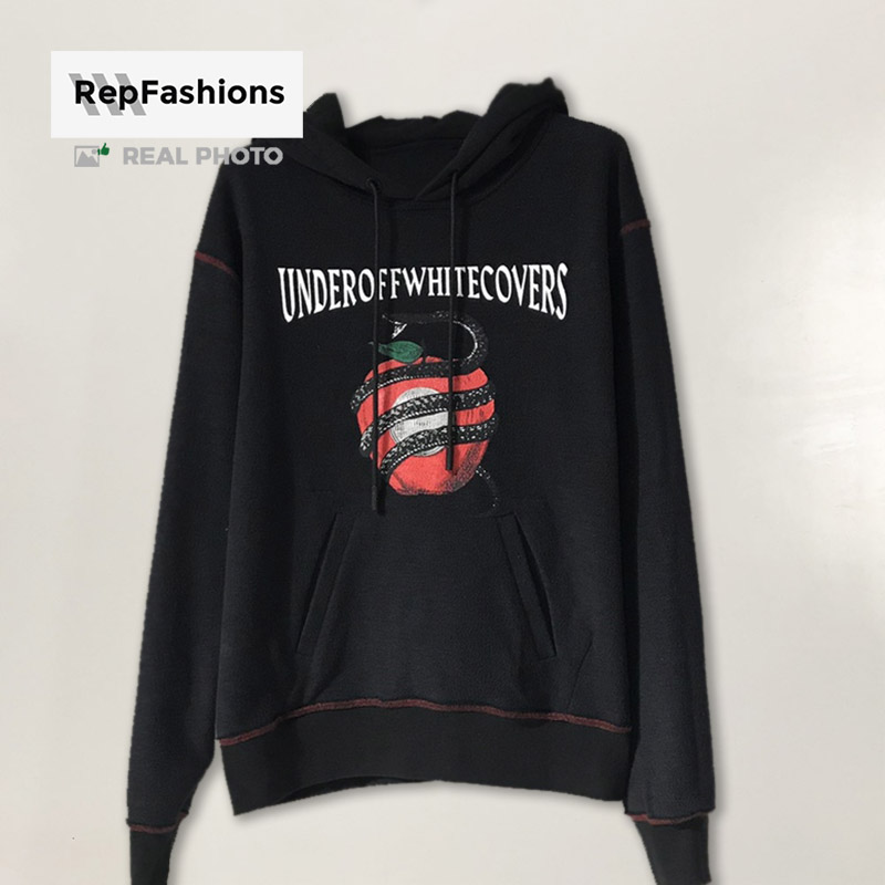Rep Off White undercover apple RVRS pullover black hoodie body front part