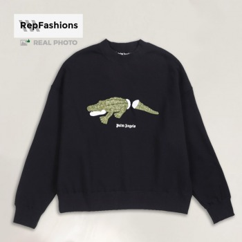 Replica Palm Angels Embroidery Crocodile Sweatshirt